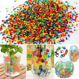 Magic jelly balls online shopping - beautiful Pearls Crystal Water beads ball Flower Plant Crystal Soil Gel Jelly Party Wedding Décor magic Jelly Water beads GC65