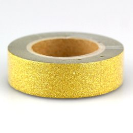 Chinese Wholesale 2016 44 Patterns 10pcs Lot Self Adhesive Decorative Glitter Tape Gold Scrapbooking