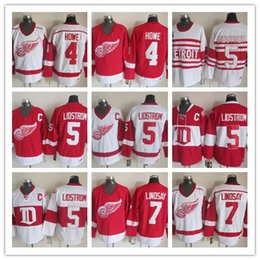 3e0fc395dc8 ... Stitched NHL Detroit Red Wings 4 HOWE 5 LIDSTROM 7 LINDSAY White Red  throwback Hockey Jerseys Throwback Detroit Red Wings Hockey Jersey Vintage  7 Ted ...
