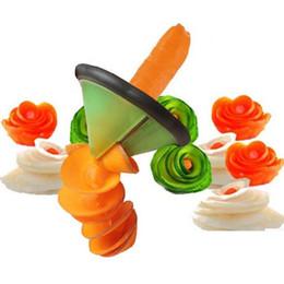 Plastic vegetable slicer online shopping - Creative Spiral Vegetable Slicer Cooking Tools Kitchen Accessories Fruit Vegetable Carving Tools Kitchen Gadgets Roll Flower