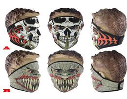 Bicycle Black Ghost Australia - Festive & Party Supplies Black Ghost Face Mask Bike Bicycle CS Cosplay Sports Balaclava Skull Hood New