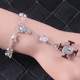 silver celtic bracelets NZ - Silver Tone Cross Virgin Mary Beaded Charm Bracelets Trendy Hip Hop Jewelry New Christmas Gift For Christian Fine Jewelry