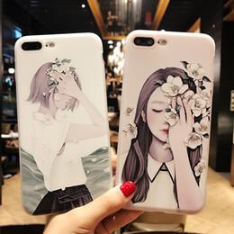 $enCountryForm.capitalKeyWord Australia - Korean small and fresh flower girl TPU cell phone cover case for iPhone 8 7 8Plus X