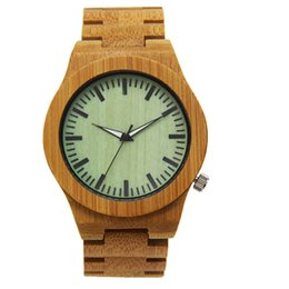 Barato Impressão Em Madeira Por Atacado-Bamboo Print Fashion aaa Watch Quartz Movement Wood Case e Band Factory Direct Wholesale BR8621