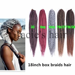 Purple Kanekalon Braiding Hair Canada - 20strands pc synthetic box Crotchet Braids Ombre Kanekalon Braiding Hair Crochet Braids Box Braids Hair Extensions Senegalese Twist Hair