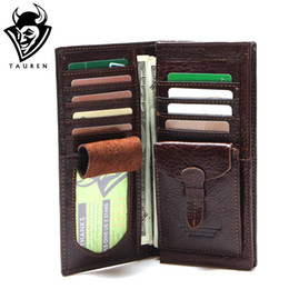 Big Long Wallets Canada - Wholesale- New Arrival 100% Genuine Leather Men's Wolf Style Wallet Long-Section Head Cowhide Vintage Pattern Male Purse Big Capacity Men