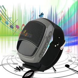 Discount multi screen player - new Mini Protable Bluetooth Wireless Speaker B90 Watch Style Speakers Multi-function Display Screen Support TF Card VS U