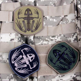 f55ac0fd533 VP-188 US Navy Seals Bone Frog Patches Skeleton Skull DEVGRU PVC Tactics  Armbands Stick army Patch Badges Rubber Morale patches 039