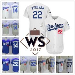 ... Los Angeles Dodgers 22 Clayton Kershaw 57 Alex Wood 14 Enrique  Hernandez LA white gray royal ... 6a93221e2cd