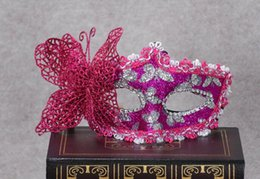 a19 Blonde Halloween Masculine Dance Stickers Stained Princess Party Mask  Men and Women Butterfly Goggles
