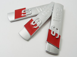 $enCountryForm.capitalKeyWord NZ - 3D S Line Sline Car Front Grille Emblem Badge Stickers Accessories Styling For Audi A1 A3 A4 B6 B8 B5 B7 A5 A6 C5 C6 A7 TT