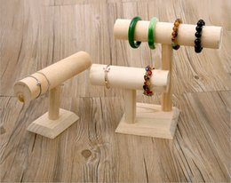 wooden bangles stand display Canada - [Simple Seven] Muji Style Natural Wooden Jewelry Hand Chain Rack Bracelet Display High Quality Bangle Tray