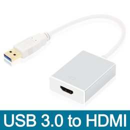 external adaptor 2019 - USB 3.0 to HDMI 1080P Adapter Cable Aluminium Alloy Case Topoint USB to HDMI External Video Card Multi Monitor Adaptor