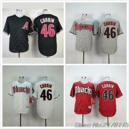 51097d4f9 ... 2016 Majestic 46 Patrick Corbin Baseball Jerseys Black Red White Gray