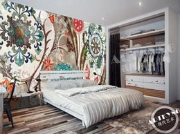 Ethnic Decor Canada - 3D photo wallpaper custom wall murals wallpaper mural European style retro color pattern flower ethnic wind painting background wall decor