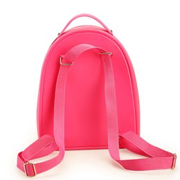 fd7d84c35949 Wholesale- Women Jelly Graffiti Backpacks Designer Girls Pink Bag Travel  Bags Children Kid Bookbag Small Candy Color Kawaii Cute Lolita Bag