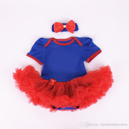 Avengers dresses online shopping - Children Avengers short sleeve tutu rompers dress bow headbands new cartoon girl Cartoon baby rompers dress C001