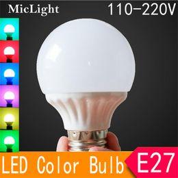 $enCountryForm.capitalKeyWord NZ - LED Bulbs E27 5W 9W 12W SMD2835 Colorful Lamp Bulbs AC 110-220V Spotlight Bulb Stage Lighting