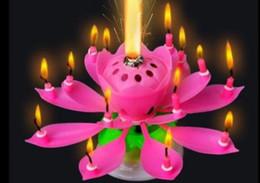 Lâmpada de vela Não Vermelho Velas Decorativas Velas Belo Presente de  Aniversário Flor Música Vela Lotus 78322ddb95e