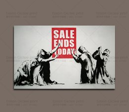 canvas prints banksy Canada - BANKSY STREET CANVAS PRINT SALE ENDS TODAY HOME DECOR WALL ART PAINTING Wall Art Canvas Prints Picture Wall Decor Art