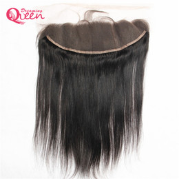 $enCountryForm.capitalKeyWord NZ - Brazilian Straight Human Hair Closure Brazilian Virgin Hair Lace Frontal Closure Pre-plucked 13x4 Ear to Ear Bleached Knots Closure