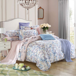 $enCountryForm.capitalKeyWord Canada - 40*40 133*72 reactive print bed sheet bed linen four pieces bedding set 100% cotton fabric,strip designs blue color lweila city