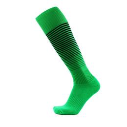 China Free shipping Towel bottom football socks stockings high tube socks male non - slip sports socks Factory direct sales cheap green white striped knee high socks suppliers