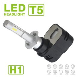 Audi turbine online shopping - Newest Set H1 Turbine T5 LED Headlight Slim Kit W LM Auto Car CSP Y19 Chips All in one Pure White K Adjustable Driving Fog Bulbs