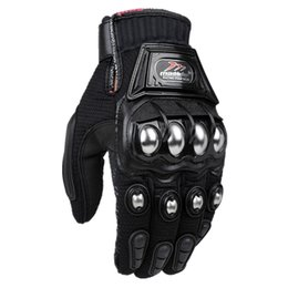 gloves motorcycle motorbike 2019 - Wholesale- Alloy Steel Madbike Motorcycle Gloves Racing Gloves Motorbike Gloves Protective Guantes Luvas Para Motor Blac