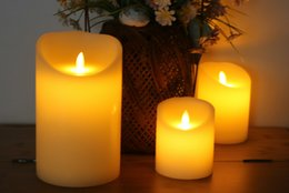 Flameless candles Free shipping online shopping - Hot sale LED light vivid eco friendly Plastic Candles in sizes for home wedding party decoration