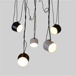 LED Lights Aluminium Aim White Black E27 Pendant Lamp Bulb Grow Bar Living Room Droplight Lighting Chandelier