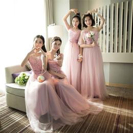 $enCountryForm.capitalKeyWord NZ - 2017 a line short mixed style bridesmaid girls cheap sweetheat chiffon pink long sheer neck tulle applique sweety wedding guest dress 12