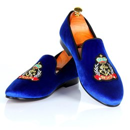 34b0a42d6ce14b Harpelunde Men Custom Shoes Velvet Loafers Smoking Slippers Handmade Flat  Shoes Fashion Footwear Free Shipping US Size 7-14