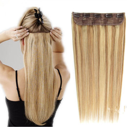 Luxury remy hair extensions online luxury remy hair extensions luxury clip in human hair extensions color straight remy hair 105g with lace for full head blond black brown free dhl pmusecretfo Gallery