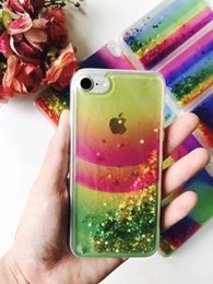 Samsung Galaxy For Cheap NZ - For Samsung Galaxy On5 G550 On7 G600 2017 New Colorful Cheap Hybrid Water Liquid Glitter Phone Case Floating Star TPU Shining Rainbox Cover