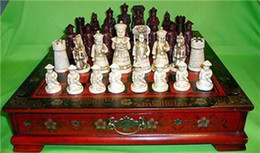 Vintage brass handles online shopping - Collectibles Vintage chess set with wooden Coffee table