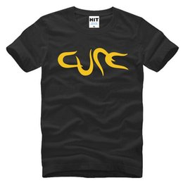 Shirt Famous Canada - Famous Brand THE CURE Men's T Shirts Fashion Short Sleeve Cotton Cool Printed Rock Male Tshirt Casual ROBER SMITH Tops Tees