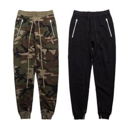 Lovers Pants Canada - 2017 New Pant Men Camouflage Fear Of God Justin Bieber Pants Lover Fashion New York Military Overalls Zipper Beam Pants Men
