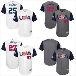 $enCountryForm.capitalKeyWord Canada - #25 Jonathan Lucroy Men USA 2017 World Baseball Classic Jerseys 100% Stiched Embroidery Logos Mix order Baseball Jerseys S-3XL