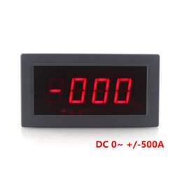 $enCountryForm.capitalKeyWord UK - High Accuracy Digital Ammeter DC -500A to +500A Amp Tester Positive and Negative Current Panel Meter 5V Red LED Display Free Shipping