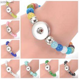 $enCountryForm.capitalKeyWord Canada - Hot multi styles fashion snap button Natural stone bracelet high quality Beaded Bracelet snap jewelry SZ0430-SZ0440