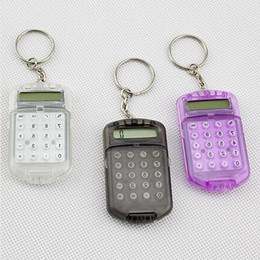calculator batteries NZ - Creative department portable students office cabinet key chain Button battery calculator manufacturers selling wholesale