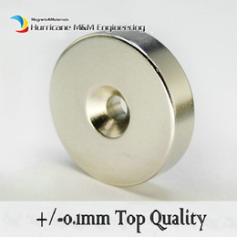 countersunk magnet UK - 10pcs Countersunk Hole Magnet Diameter 40x10 (+ -0.1)mm Thick M6 Screw Countersunk Hole Neodymium Rare Earth Permanent Magnet