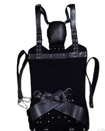 Toy Furniture Wholesale NZ - 2017 new arrival Sex Furniture Black Hammock BDSM Strict Leather Sling Stirrups and Pillow Sex Game Adult Toys for Couple