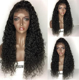 Discount hairstyles for long wavy hair - Full Lace Human Hair Wigs For Black Women Wet And Wavy Brazilian Virgin Hair Lace Front Human Hair Wigs Glueless Full La