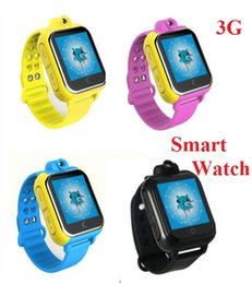 smart watch 3g sim card Canada - Wholesale- Smart baby watch Q730 3G Network GPS tracker for kid WIFI Position Sim Card Rotatable Camera child Smartwatch with 4G memory