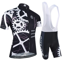 China BXIO New Cycling Jersey Pro Team Mountain Bike Sport Wear Jersey Short Sleeve Cycle Clothing Sets Ropa Ciclismo Black Bicycle Clothes BX-080 cheap bx sports suppliers