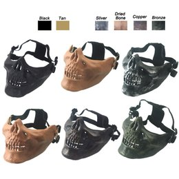Skeleton Tactical Mask Canada - Outdoor Airsoft Shooting Equipment Face Protection Gear Skeleton Mask Half Face Tactical Airsoft Horror Skull Mask