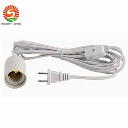 Wholesale New arrive feet m LED bulb power wire US plug E26 E27 lamp holder gear switch Direct sale DHL