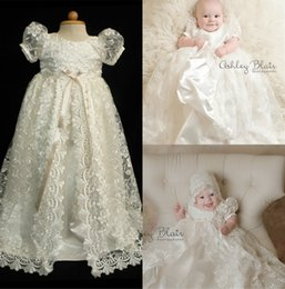 Robes Faites Sur Mesure En Première Communion Pas Cher-Cheap Cute First Communion Robes With Cap Livraison gratuite Lace Applique Beads Jewel Neckline A Line Puff Sleeves Custom Made Pageant Gowns